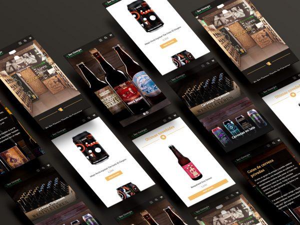 Diseño web para Tercertiempo Cervezas